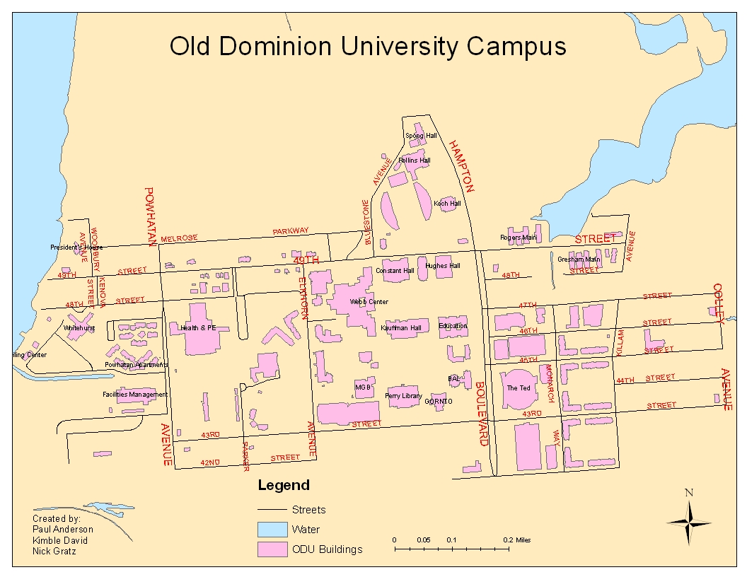 Old Dominion Campus Map.Cartography