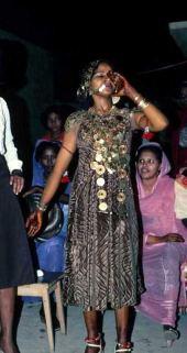Lawsonia inermis. Henna. Wedding party, Khartoum, Sudan. Lythraceae